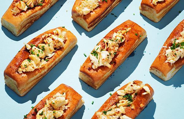 Hot buttered lobster rolls