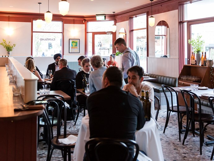 The dining room at Capitano, the new Italian restaurant in Carlton from the Bar Liberty team