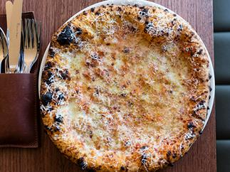 Capitano's cheese pizza, among Melbourne's best pizza restaurants