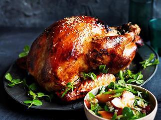 Peach and ginger roast turkey