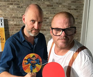 Gourmet Traveller's Pat Nourse and chef Heston Blumenthal