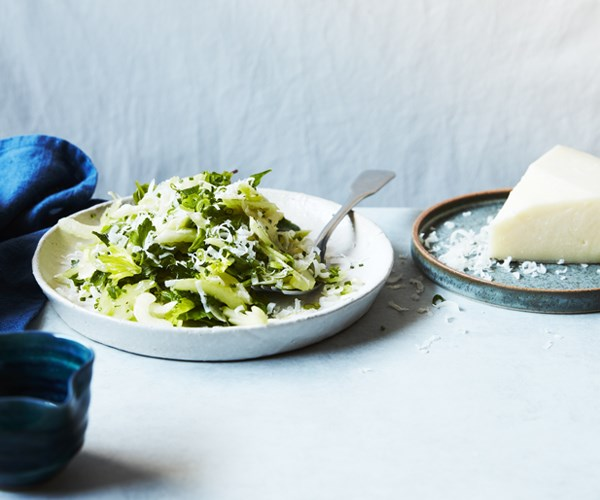 Celery, mint and Manchego salad