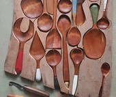 Phoenix Creations' recycled timber spoons