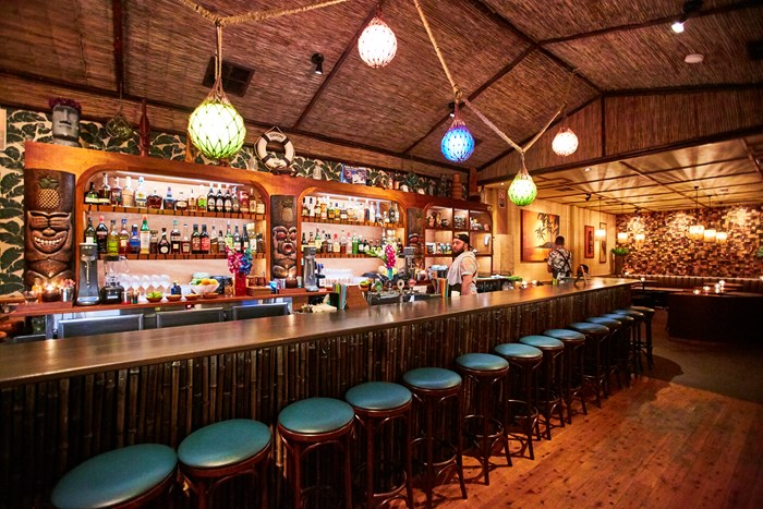 Inside Jacoby's, a tiki-themed bar on Gourmet Traveller's list of best Sydney bars