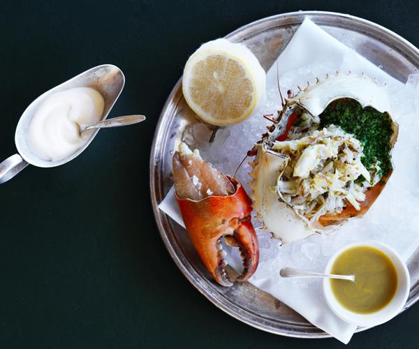 "**[Jordan Toft's dressed crab](https://www.gourmettraveller.com.au/recipes/chefs-recipes/dressed-crab-16586|target=""_blank"")**"