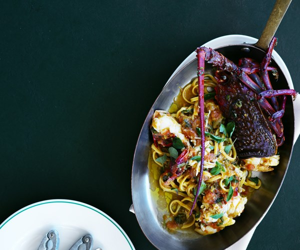 "**[Jordan Toft's lobster tagliolini](https://www.gourmettraveller.com.au/recipes/chefs-recipes/lobster-tagliolini-16590|target=""_blank"")**"