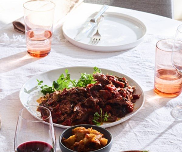 Lamb with roast-apple chutney