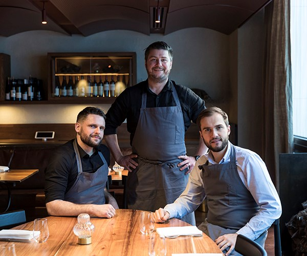 Matilda head chef Tim Young, executive chef and owner Scott Pickett and chef Steve Nairn.