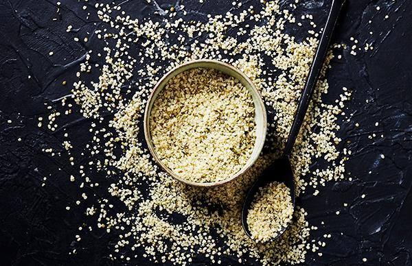 Hemp seed and cauliflower salad