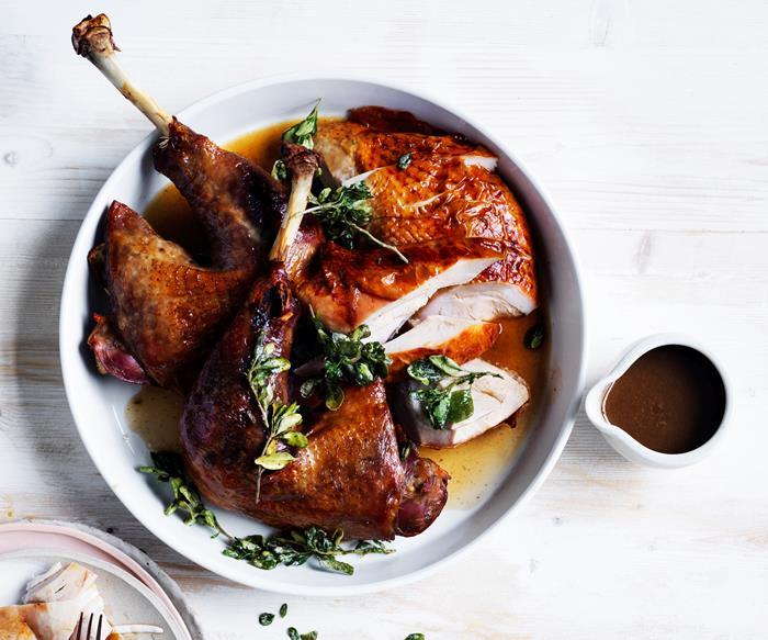 Jock Zonfrillo's roast turkey with native herbs and spices