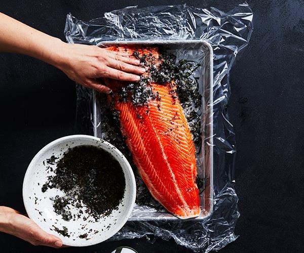 Curing fish