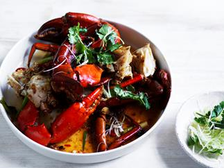 Mud crab with XO sauce recipe by Dan Hong