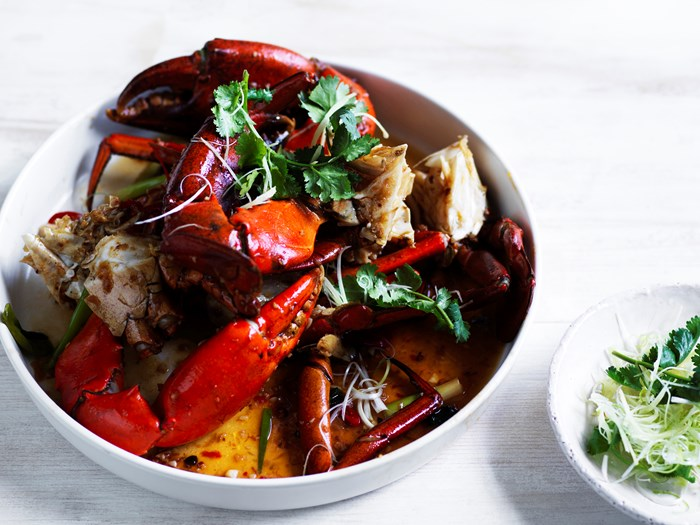 Mud crab with XO sauce recipe by Dan Hong