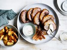 Roast pork shoulder with ajo blanco