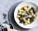 Gnocchi with demi-glace and sage