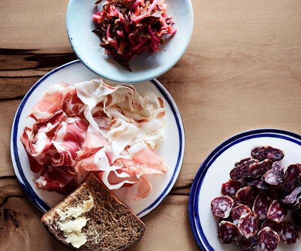 """[**Seasonal mixed kraut with charcuterie**](https://www.gourmettraveller.com.au/recipes/chefs-recipes/seasonal-mixed-kraut-with-charcuterie-16735