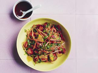 Carrot, orange and harissa Salad