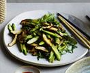 Tony Tan's stir-fried asparagus with shiitake mushrooms and chilli
