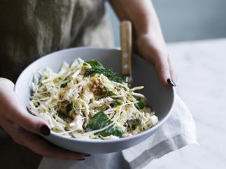 Cabbage, celeriac and pear salad