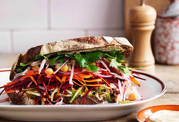The ultimate salad sandwich
