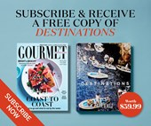 Subscribe to Gourmet Traveller and receive a bonus copy of Destinations, GT's travel photography book