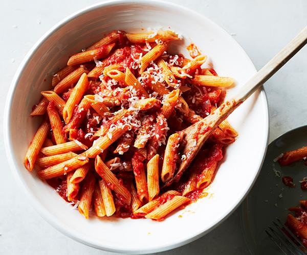 "**[Penne with ginger and tomato](https://www.gourmettraveller.com.au/recipes/fast-recipes/penne-ginger-tomato-16826|target=""_blank"")**"