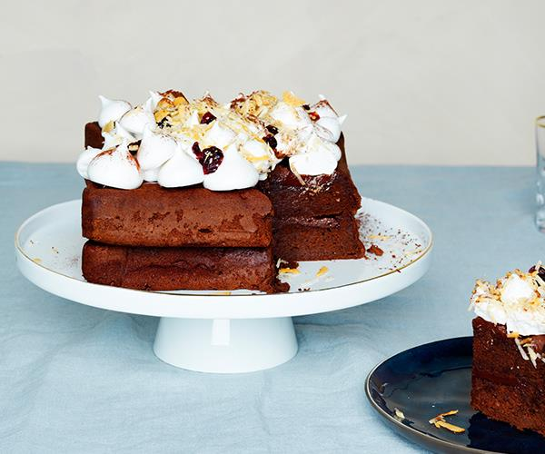 Rocky-road cake
