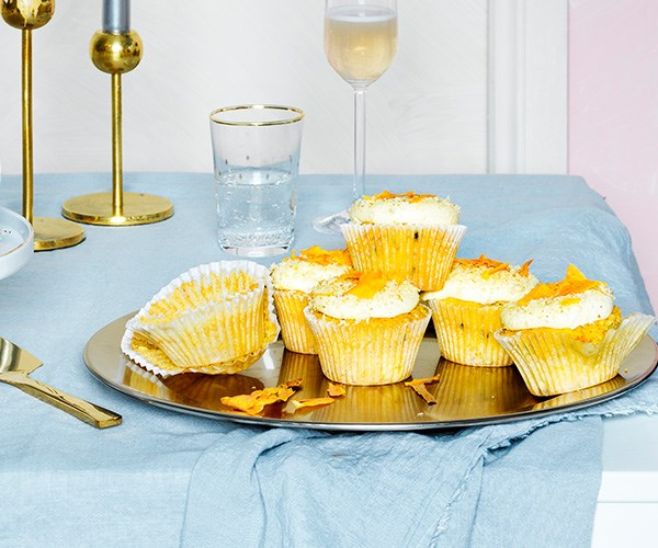 "[Carrot cupcakes with cream-cheese icing](https://www.gourmettraveller.com.au/recipes/browse-all/carrot-cupcakes-16840|target=""_blank"")"