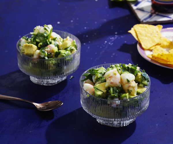 Prawn and avocado with lime