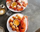 Fleet's seafood platter with Marie Rose sauce