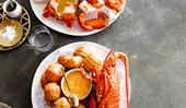 Fleet's seafood platter with Marie Rose sauce