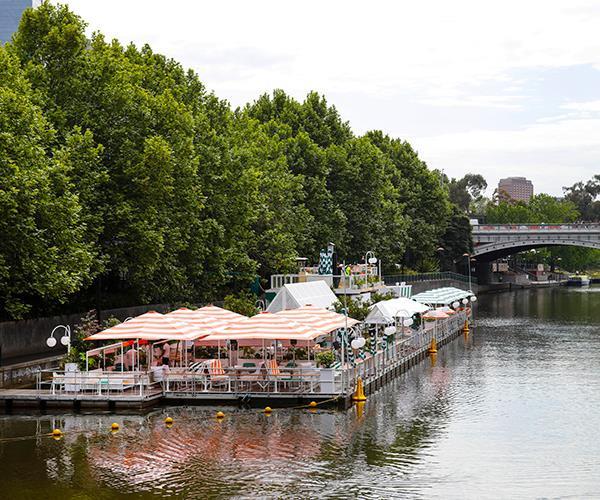Melbourne's Arbory Afloat on the Yarra River.