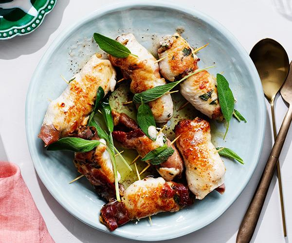 "**[Turkey involtini](https://www.gourmettraveller.com.au/recipes/fast-recipes/turkey-involtini-16855|target=""_blank"")**"