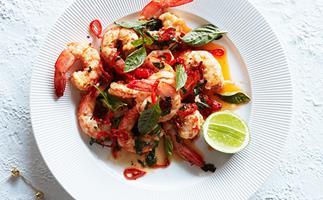 Liberté's garlic prawns with chilli and Thai basil