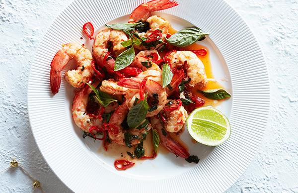 Easy Christmas Prawns
