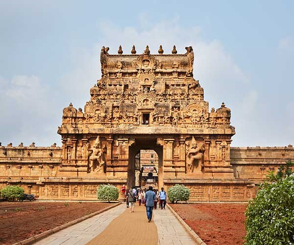 A gateway at Brihadeeswarar Temple, Thanjavur (Photo: Alicia Taylor)