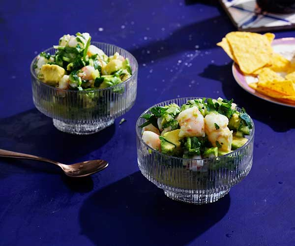 """[Prawn and avocado with lime](https://www.gourmettraveller.com.au/recipes/browse-all/prawn-and-avocado-with-lime-16814