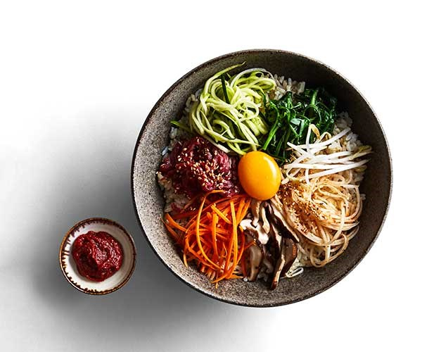 A bowl of bibimbap