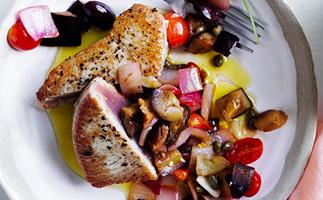 Tuna with caponata