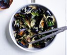 One-pot recipe for mussels with risoni and herbs