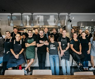 Clayton Wells and chef friends at One Plate for Two Good 2018