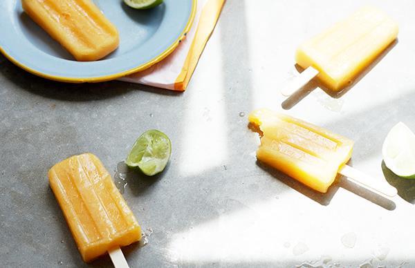 Mango, coconut and lemongrass popsicles