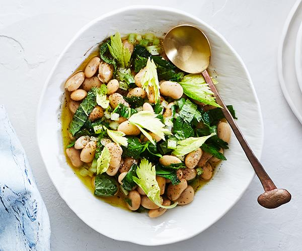 "**[Greek-style butter bean salad](https://www.gourmettraveller.com.au/recipes/chefs-recipes/butter-bean-salad-16975|target=""_blank"")**"