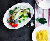 Sean Moran's poached Murray cod with dill