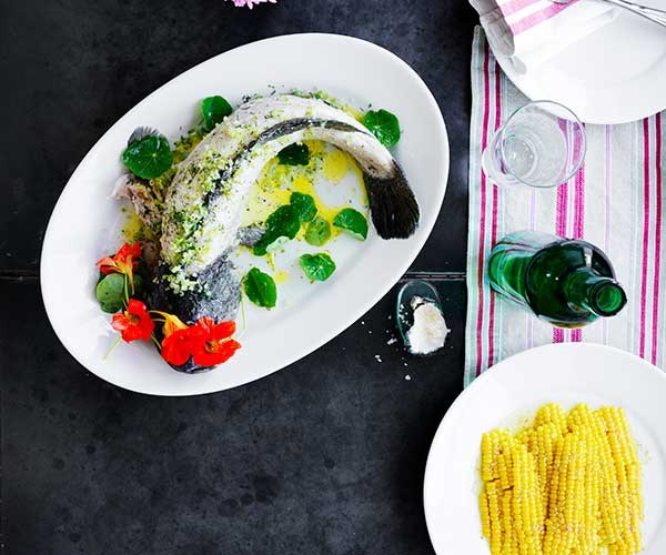 "[**Poached Murray cod with dill**](https://www.gourmettraveller.com.au/recipes/chefs-recipes/poached-cod-recipe-16981|target=""_blank"")   ""Prepared a day ahead, then chilled, this is one of those summer-table centrepieces that is as easy to make as it is impressive,"" says Moran. ""Dill is the perfect friend for freshwater fish, and the nasturtiums surrounding the fish can make way for watercress or tiny lettuce hearts to mop up the dressing; potato salad or simple boiled potatoes are a welcome side, too. Murray cod becomes incredibly gelatinous as it cools; substitute a fattier fish, such as ocean trout or salmon, if you prefer a different style."" Start this recipe a day ahead to poach the Murray cod."