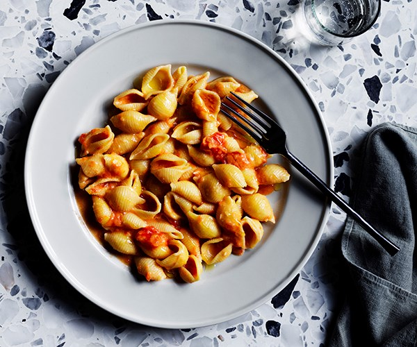"**[Conchiglie with vodka sauce](https://www.gourmettraveller.com.au/recipes/chefs-recipes/pasta-vodka-sauce-17025|target=""_blank"")**   ""Equal parts naff and amazing, this is one of those dishes that seems to always be good no matter the circumstances,"" says Wall. ""It is almost impossible to stop eating this recipe until you get ill from carb overload."""