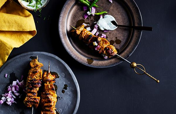 Lamb Skewers with mint yoghurt
