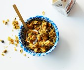 Coconut, turmeric and buckwheat granola