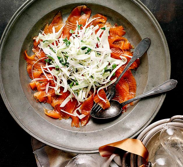 Cured ocean trout with celery and fennel salad