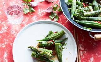 Stir-fried okra